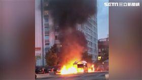 瑞典起火(圖/翻攝自AP)