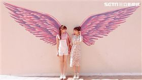 打卡,台北王朝大酒店,天使翅膀牆,粉紅牆,SUNNY CAFE,天使之戀下午茶