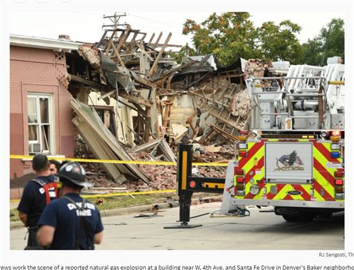 丹佛公寓發生天然氣爆炸釀9死。(圖/翻攝自丹佛郵報)