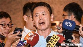 國民黨立委林為洲出面說明遭開除黨籍一事。 (圖/記者林敬旻攝)