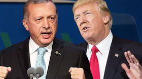 土耳其總統雷傑普與美國總統川普(圖/翻攝自EXPRESS)土耳其,美國,小客車,酒類,菸草,關稅,白宮