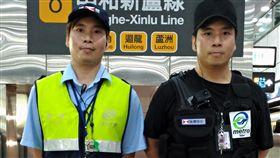 台北捷運雙胞胎保全 服務獲肯定