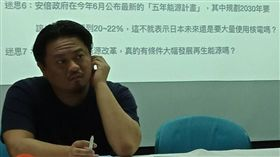 全國廢核行動平台記者會,綠色公民行動聯盟副秘書長洪申翰(左),(圖/記者李英婷攝)