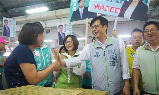 選戰倒數100天 陳其邁 市場 (圖/翻攝自陳其邁臉書)