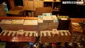 警方在周男店內查扣大批含尼古丁的電子煙油,訊後依違反藥事法移送法辦(翻攝畫面)