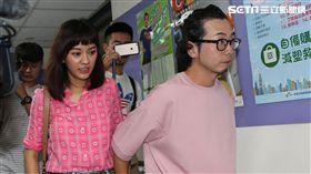 陳意涵與許富翔七夕正式登記結婚。(圖/記者蔡世偉攝影)