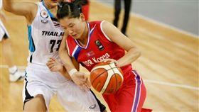 北韓第1中鋒盧淑英。(圖/翻攝自FIBA官網)