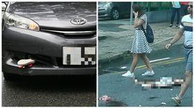 香港4歲女童過馬路遭轎車輾斃當場慘死(圖/翻攝自微博)