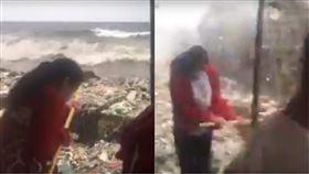 菲律賓,海浪,垃圾,環保,海洋,淨灘,清理,汙染,自然,Matthew Doming 圖/翻攝自YouTube http://youtu.be/Ou0ZrxmjUG8