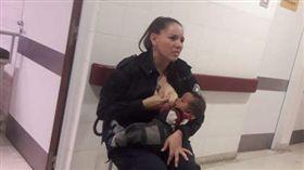 阿根廷,母乳,女警,巡邏,營養不良(圖/翻攝自推特)