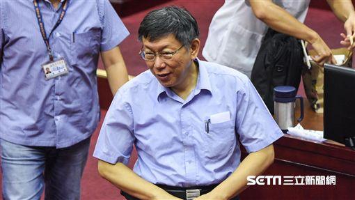 台北市長柯文哲出席專案報告。 (圖/記者林敬旻攝)