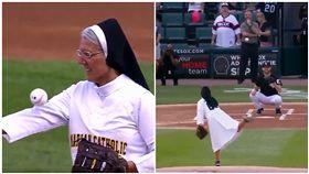 別被和藹外表騙了!修女投出完美曲球 大聯盟球迷都驚呆了 圖/翻攝自ESPN推特