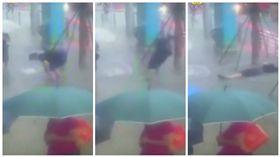 中國大陸,男子在大街上觸電身亡(圖/翻攝自梨視頻)