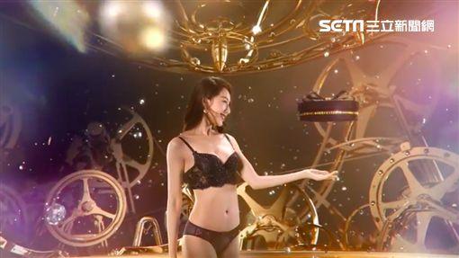 隋棠代言「瑪麗蓮」塑身衣廣告。翻攝youtube