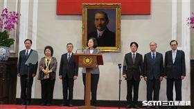 總統蔡英文針對薩爾瓦多斷交發表談話。(圖/記者盧素梅攝)