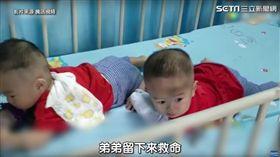 雙胞胎患罕病…只能救一個 父母讓孩子「抓周」定生死 圖/翻攝自陸媒騰訊視頻