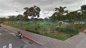 富錦街的這片空地,未來將成為松榮公園。(圖/翻攝自GoogleMap)