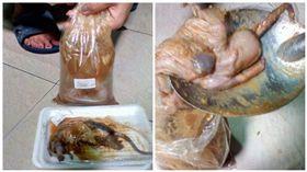 泰國一名女子在超市買一袋醃魚,打開後驚現一隻醃老鼠(圖/翻攝自เสียงประชาชน คนภูเก็ต臉書)