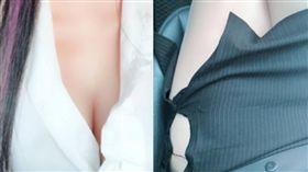 窄裙妹趕學校簡報!途中「蜜大腿炸裂」超邪惡 網笑翻:求番號(圖/翻攝自爆怨公社)