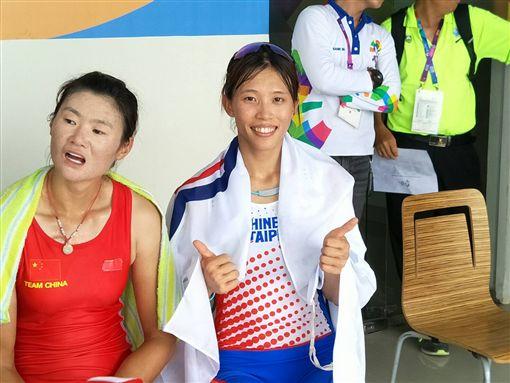 ▲台灣選手黃義婷在雅加達亞運單人雙槳獲得銀牌。(圖/中華奧會提供)