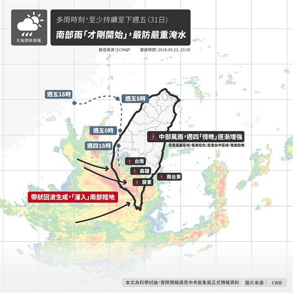 天氣即時預報,南部,淹水,豪雨,氣象局,台灣颱風論壇|天氣特急