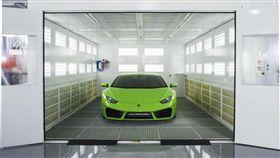Lamborghini車體維修技術中心。(圖/Lamborghini提供)