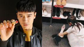 高雲翔,董璇,小酒窩,高跟鞋,家教(圖/翻攝自微博)