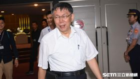 台北市長柯文哲出席市議會備詢。 (圖/記者林敬旻攝)