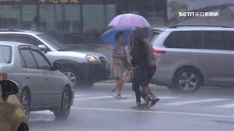 颱風外圍挾雨彈 10縣市豪大雨特報