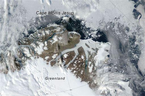 全球暖化,氣候異常,北極,冰層,格陵蘭島 圖/翻攝自翻攝美國冰雪數據中心