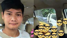 ▲泰國網友搭計程車(圖/翻攝自臉書)