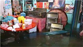 嘉義,東石,淹水,海產店,泡水 圖/翻攝畫面