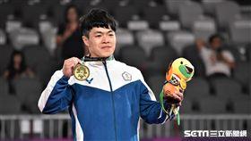 亞運體操「吊環王子」陳智郁拿下銅牌。(圖/記者王怡翔攝)