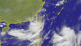 熱帶性低氣壓 圖翻攝自中央氣象局