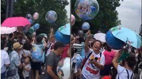 嫌迪士尼氣球賣太貴 遊客起鬨