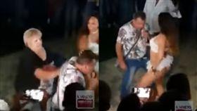 男到舞廳跟脫衣舞孃熱舞 被妻抓包遭痛扁(圖/翻攝自YouTube)