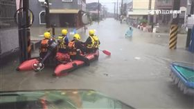水淹半樓!麻豆4里橡皮艇急疏散百人
