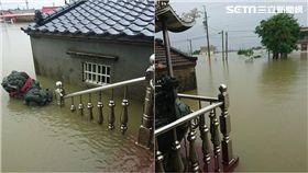 淹水,低氣壓,大雨,嘉義布袋,村莊(投訴者呂先生提供)