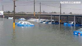水淹中台灣…嘉義成水鄉澤國 30輛教練車全變泡水車