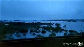 豪雨,淹水,台鐵,高鐵,災情(圖/翻攝自爆怨公社)
