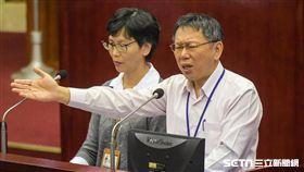 台北市長柯文哲,辦公室主任蔡壁如 圖/記者林敬旻攝