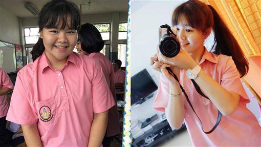 1年狂甩44公斤 高中妹變超正! 圖/Wanwisa Nanongtoom臉書