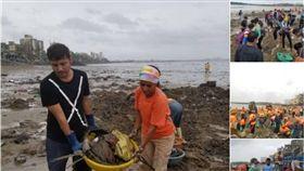 印度,Versova,垃圾,汙染,孟買 圖/翻攝自推特