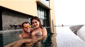 美國籍男子大衛在泰國「把妹」 圖/David Bond,YouTube