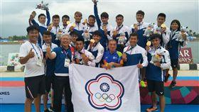 中華隊拿下龍舟500公尺金牌。(圖/中華奧會提供)
