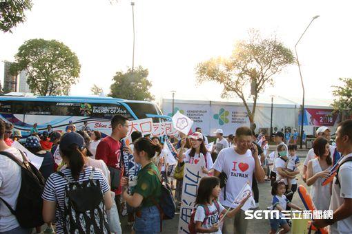 ▲印尼台灣僑民大舉到場看台灣棒球隊與韓國交手。(圖/記者蕭保祥攝)