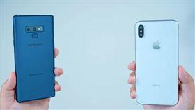 三星,Galaxy Note 9,新iPhone,愛瘋,蘋果,Note 9,Note9 圖/截自影片