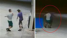 美國佛羅里達州一名32歲健身模特兒岡薩雷斯(Hivo Gonzalez),他到加油站加油時,被一名行乞男子克魯茲(Pedro Cruz)乞討,他氣得從車內拿出棒子打死克魯茲。日前當地法院公開案發當時的畫面,岡薩雷斯被控2級謀殺,恐面臨10年監禁。(圖/翻攝自《Zahid Mo》YouTube)