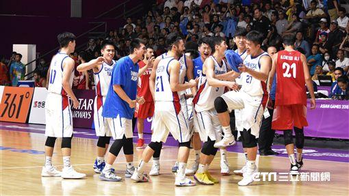 雅加達亞運中華男籃擊敗敘利亞錢進四強。(圖/記者王怡翔攝)