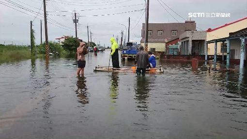 老村長哭了!西崙村淹水未退 民眾損失慘
